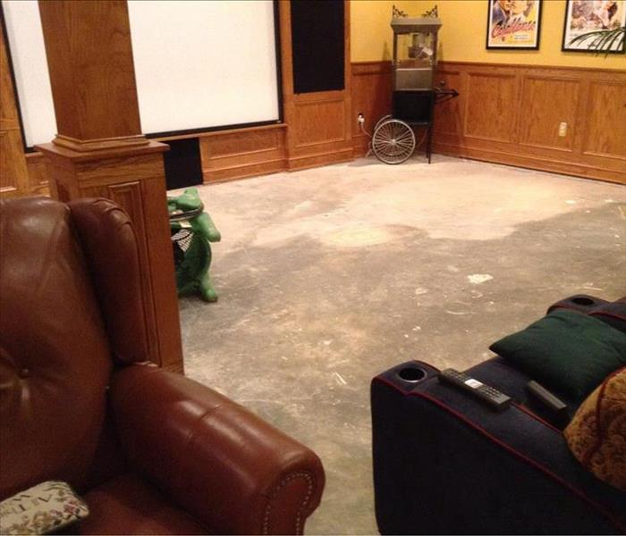Edgewater Media Room damaged by Storm Flooding After