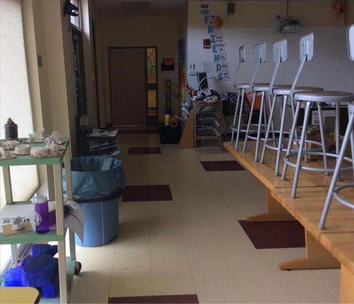 Local School calls SERVPRO for water damage After