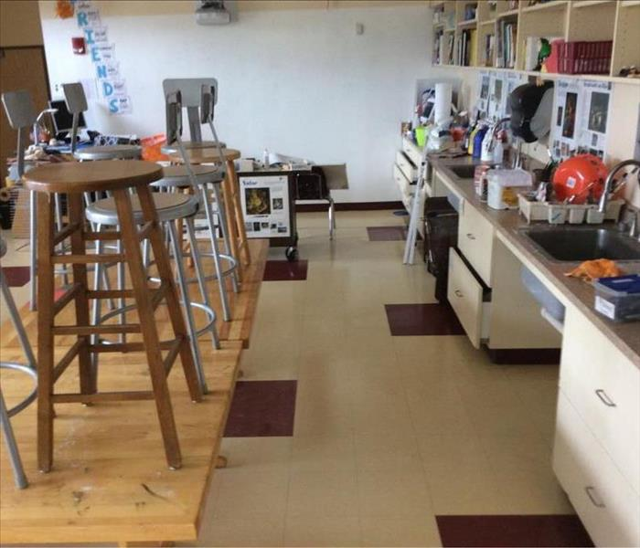 Local School calls SERVPRO for water damage Before