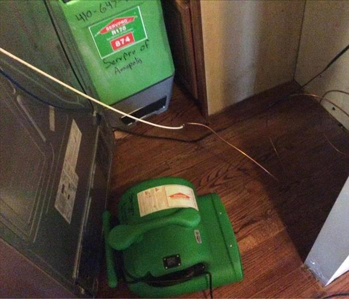 Refrigerator line causes water damage in Tracy's Landing